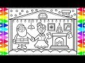 How to Draw SANTA CLAUS and MRS. CLAUS for Kids 🎅🤶❤️💚Christmas Drawing and Coloring Page for Kids