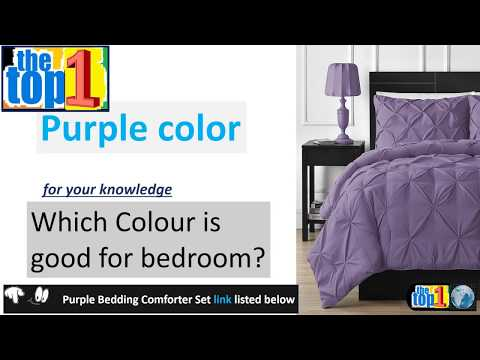 Best Buy Purple Bedroom Decor | Double Needle Stitching Comfy Bedding  3 Piece Comforter Set All