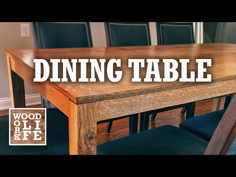 Shaker-Style White Oak Dining Table | Woodworking Builds