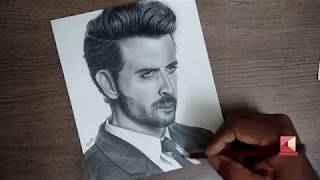 Hrithik Roshan drawing