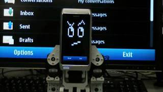 Callo Robot #04 - TTS Message Reader on Nokia N8 brain!