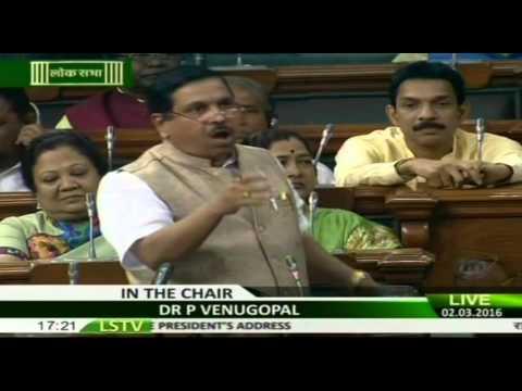 Shri Pralhad Joshi's speech on motion of thanks on the President's Address, 02.03.2016
