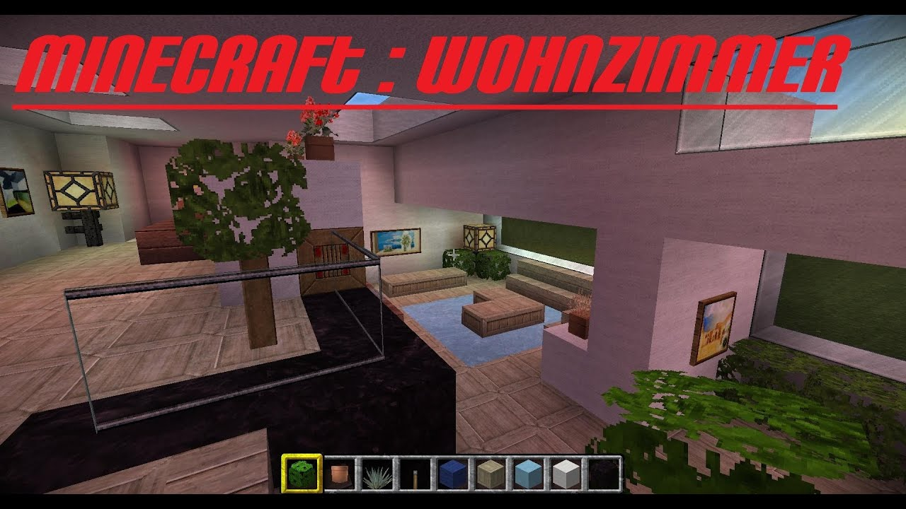 minecraft wohnzimmer german hd modern youtube