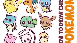 How to Draw Cute Pokemon Characters Easy Cute / Chibi / Kawaii / Baby Drawing Tutorial