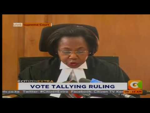 Vote Tallying ruling #CitizenExtra