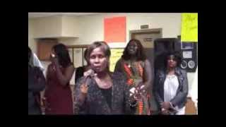 SOUTH SUDANESE ARTIST AMO AMOW NEIT PERFORMING AT  ABYEI FUNDRAISER PARTY IN DES MOINES IOWA PART 1