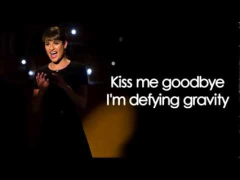 Glee  Defying Gravity Lyrics