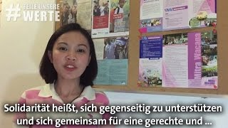 Internationale Stimmen zum Tag der Solidariät #TeileUnsereWerte