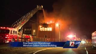 Fire Destroys Old Elementary School
