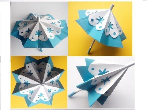 diy geschenke zum muttertag regenschirm aus papier der. Black Bedroom Furniture Sets. Home Design Ideas