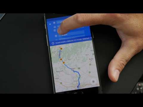 Traseu navigatie personalizat cu mai multe puncte pe Android