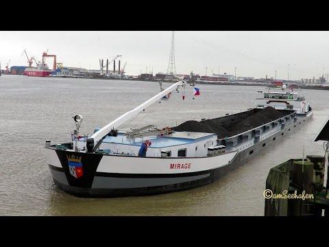 GMS MIRAGE PE5697 MMSI 244660742 Emden river barge inland cargo ship Binnenschiff