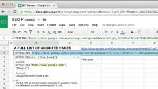 How to Create Hyperlinks in Google Sheets Using the HYPERLINK Function