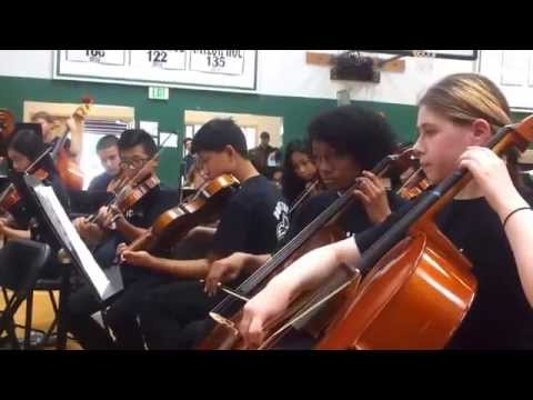 Olympic view middle school adv orchestra playing vivaldi magnificat