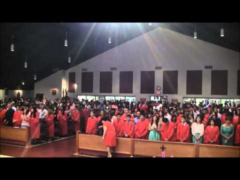 Confirmation procession at Divine Mercy of Our Lord Catholic Church