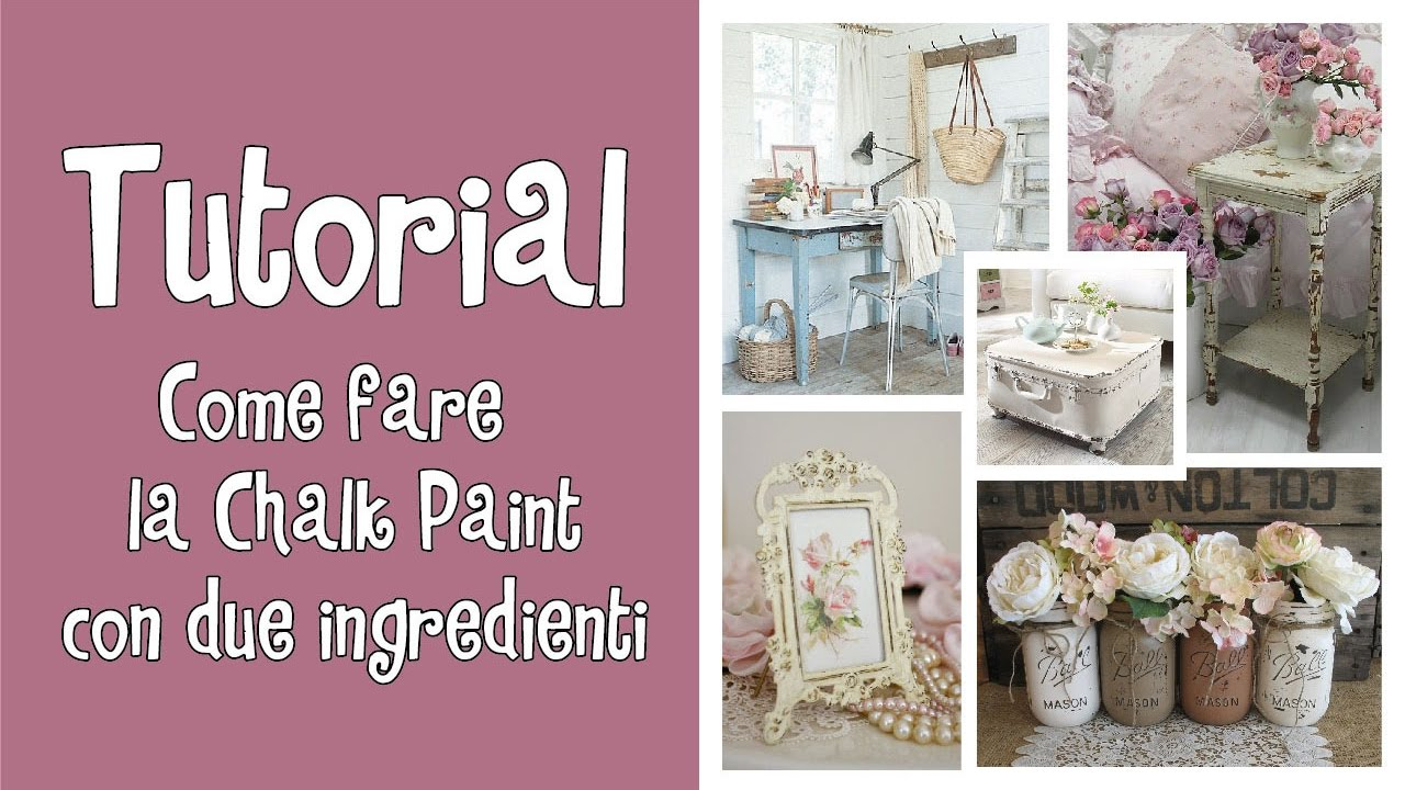 Tutorial Pittura Shabby Chic : Tutorial come fare la chalk paint con due ingredienti ^ ^ youtube