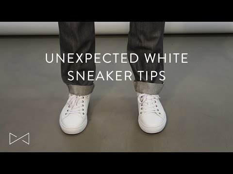 3 Unexpected Ways To Wear White Sneakers