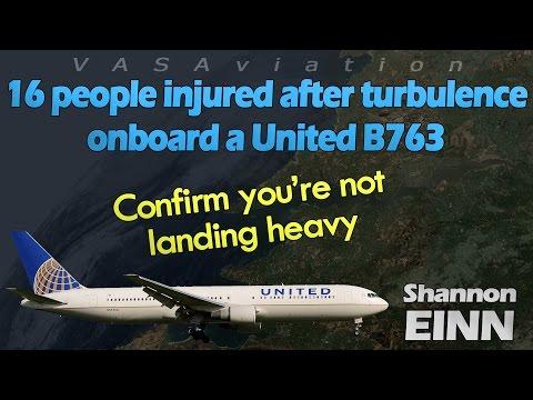 [REAL ATC] United B767 HIT BY SEVERE TURBULENCE!