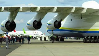 ANTONOV AN-225 - CLOSE UP PUSHBACK of WORLDS LARGEST AIRCRAFT at ILA 2018 Air Show!