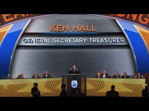 GST Ken Hall addresses the Teamsters 29th International  Convention