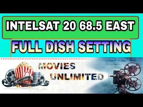 INTELSAT 20 68.5 EAST FULL  DISH SETTING AND CHANNEL LIST ! Easy setup !