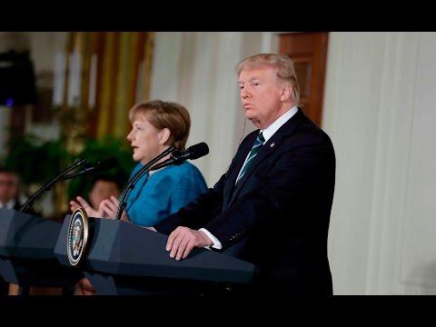 Trump tells Merkel: 'At least we have something in common, perhaps'