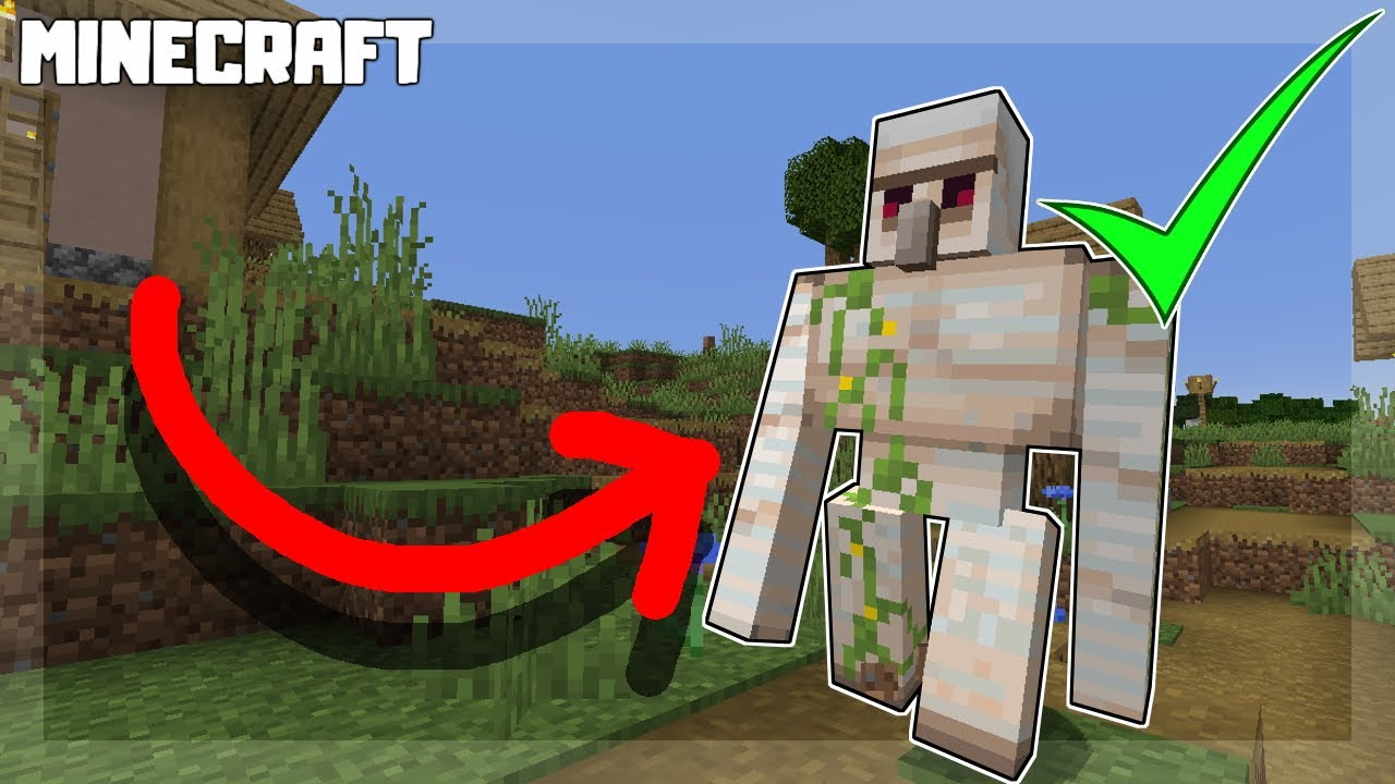 How to Make Iron Golems that DON'T Attack You! Minecraft 1.16.3