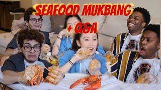 SEAFOOD MUKBANG!  (NOAH RUINS MY COUCH)