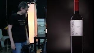 Предметная съемка. Бутылка вина.