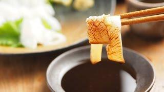 モンゴウイカのさばき方、刺身の切り方、イカスミパスタの作り方