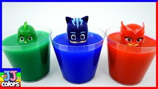 Pj Masks Wrong Head In Color Water! Learn Color With Coca Cola Bottle&Balls  [Jj Colors]