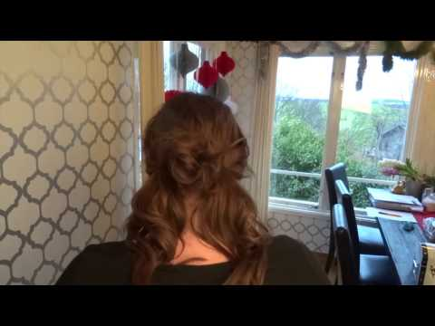 Updo for fine hair with a little trick...