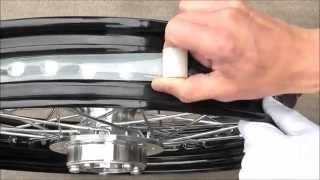 Outex tubeless kit Instruction for Harley-Davidson / チューブレスキット施工 ハーレーダビッドソン