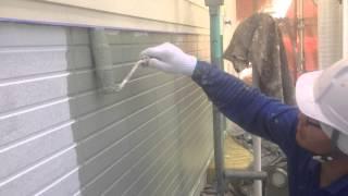 遮熱塗装 中塗り 春日井市の外壁塗装、塗り替えならレインボーペイント