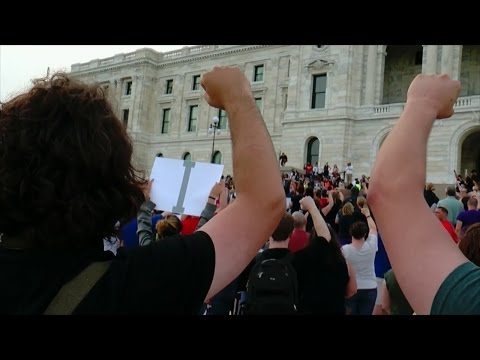 Protesters March In St. Paul Following Yanez Verdict