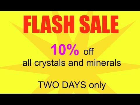 Flash Sale -10% Off Crystals and Minerals