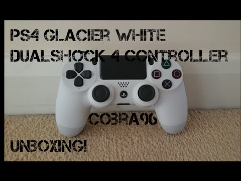 PS4 Glacier White Dualshock 4 Controller Unboxing - YouTube