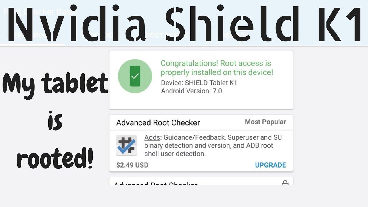 Nvidia Shield K1 Tablet | It Has Root!