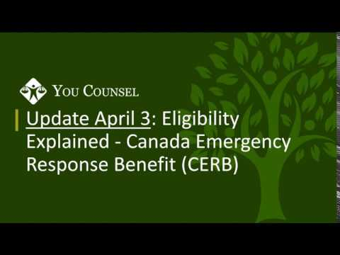 Update April 3: Eligibility Explained - Canada Emergency Response Benefit (CERB)