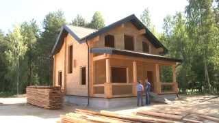 Строительство деревянного дома из клееного бруса.МОГУТА(, 2014-07-17T10:09:21.000Z)