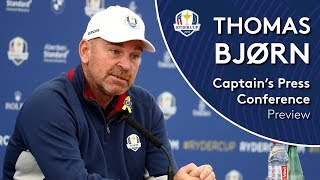 2018 Ryder Cup - Thomas Bjørn Press Conference LIVE from Le Golf National