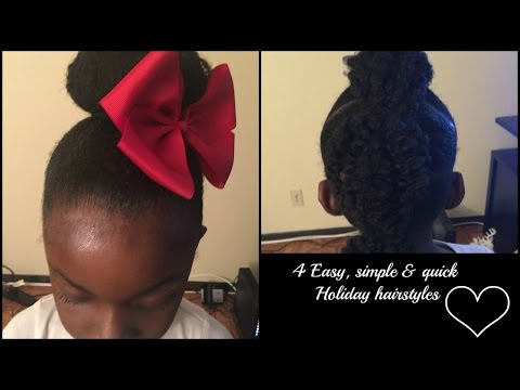4 Last Minute Holiday Hairstyles For 4c Natural Hair Kids Easy