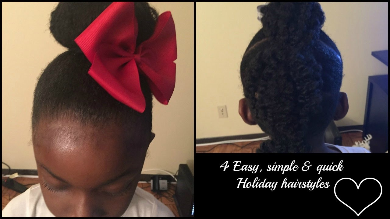 4 Last Minute Holiday Hairstyles For 4c Natural Hair Kids