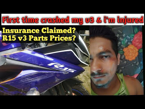 My First Major Crash With My R15 V3 | Insurance Claim & R15 V3 Body Parts Price