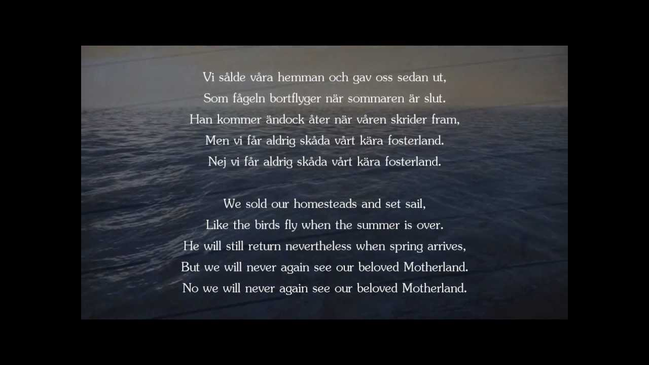 Ultima Thule - Vi Sålde Våra Hemman (Swedish/English text)