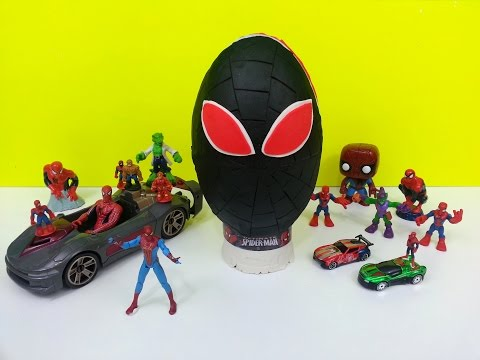 Spiderman Play Doh Surprise Egg Marvel Amazing Toys