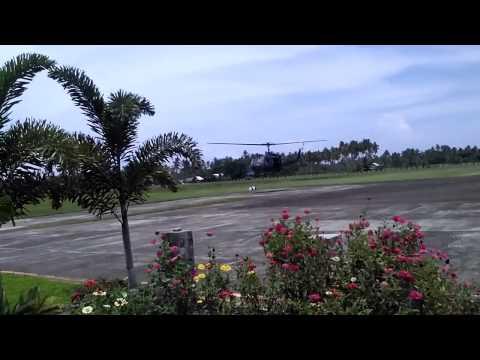 Tandag Surigao del Sur. Military chopper landing