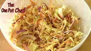 Crunchy Noodle Coleslaw - Recipe