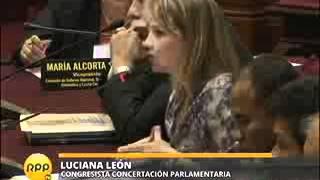 LUCIANA LEON SUSTENTA PROYECTO PARA REPARAR A