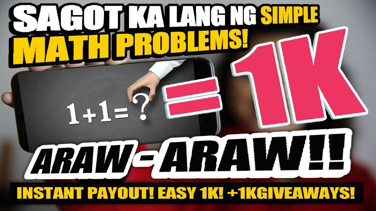 KUMITA NG FREE ₱1,000 PESOS ARAW-ARAW, SAGOT KA LANG NG 1+1 OR SIMPLE MATH PROBLEMS! |W/ PROOF!